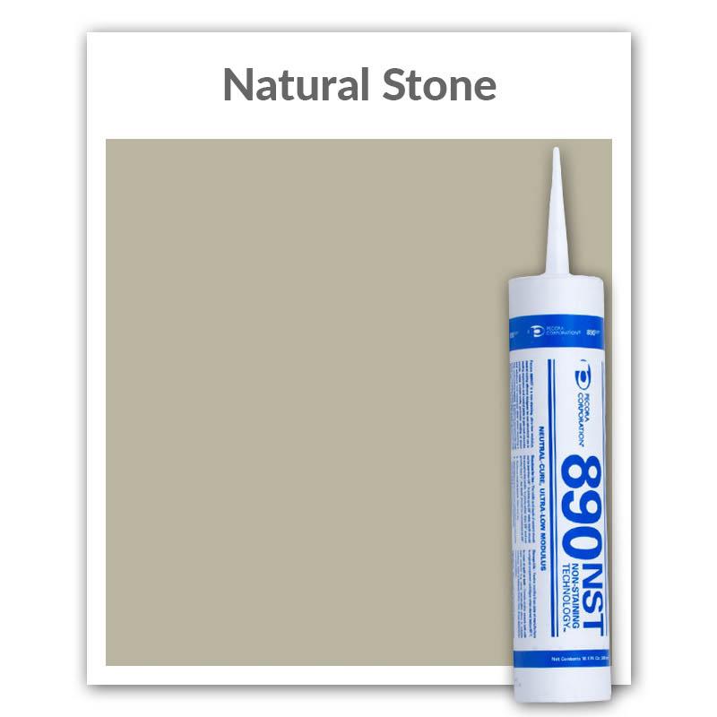 Pecora 890NST Silicone Sealant 10 1-oz , Natural Stone