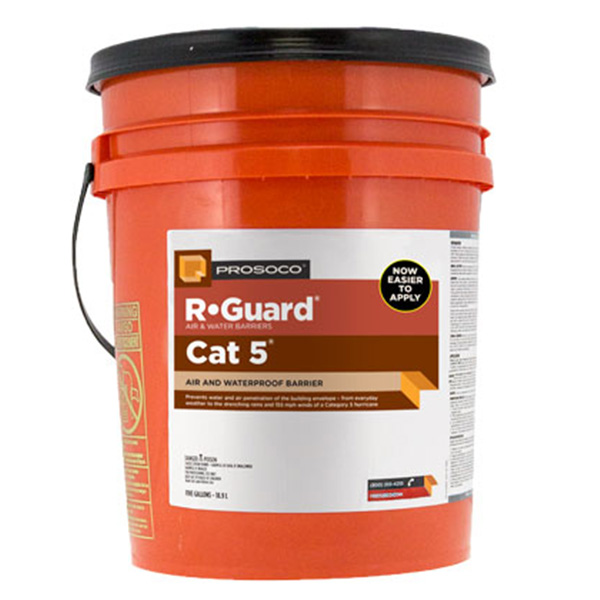 Prosoco R-Guard® Cat 5™ Air and Water Barrier, 5-gal.