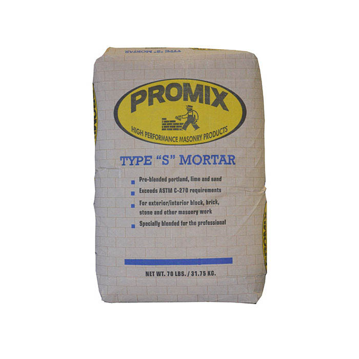 ProMix Pre-blended Portland Lime and Sand Mix Mortar Type S, 70-lb.