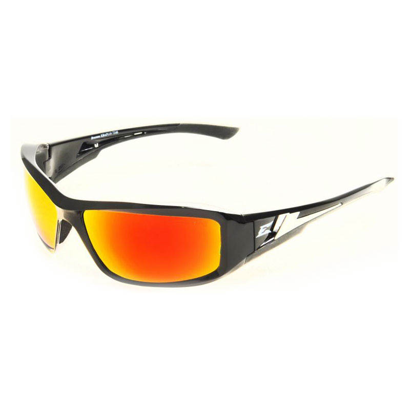 Edge Eyewear Brazeau Safety Glasses with Red Mirror Lens