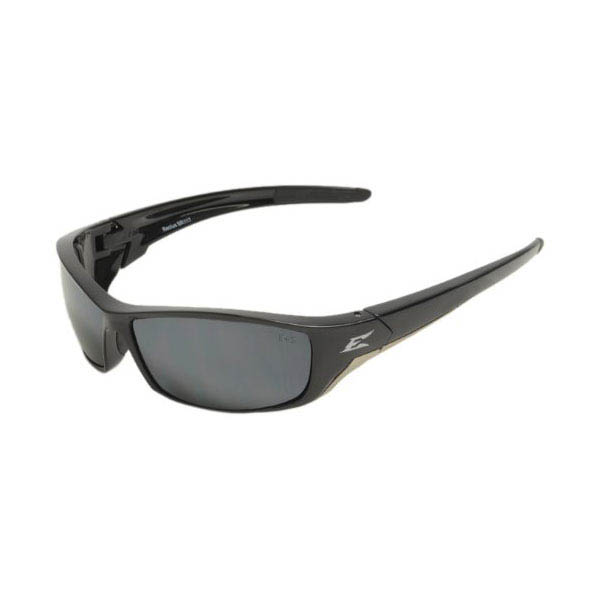 Edge Eyewear Reclus Safety Glasses Black with Silver Mirror Lens