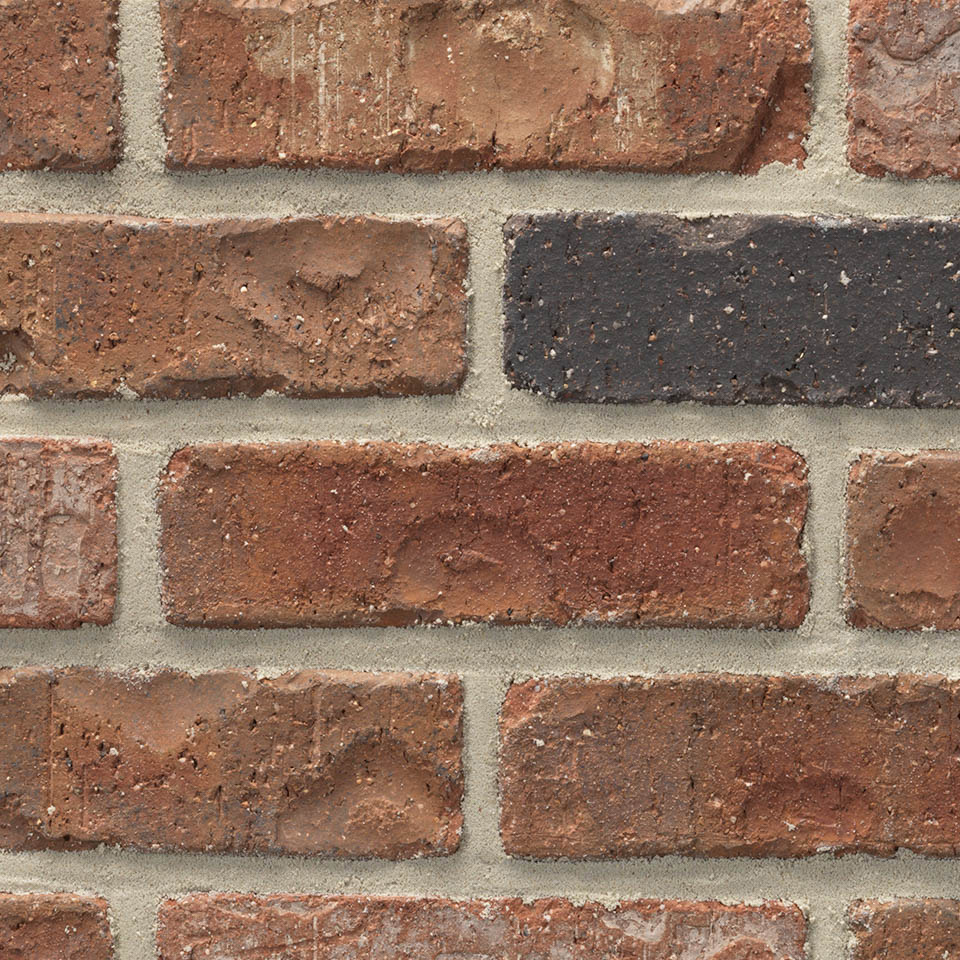Acme® Brick Denver Red/Black Colorado Modular Brick, Rumbled